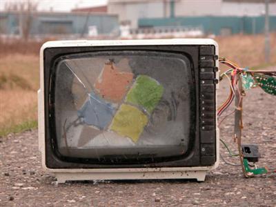 tv con logo d emicrosoft