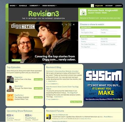 Kevin Rose's Revision3 Video Start-Up Gets Design Overhaul1