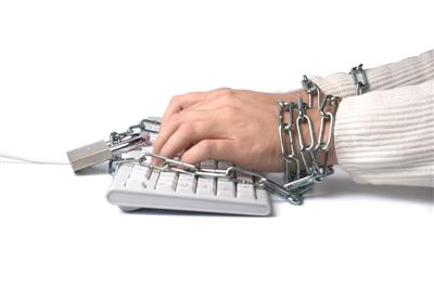 Chained Hands to Keyboard