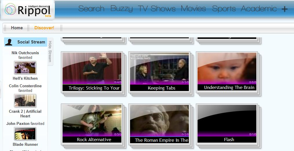 Rippol - Video Search engine for finding television programs and movies online