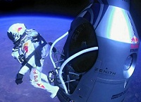 Felix Baumgartners Freefall From Edge Of Space Breaks YouTube Live Streaming Record